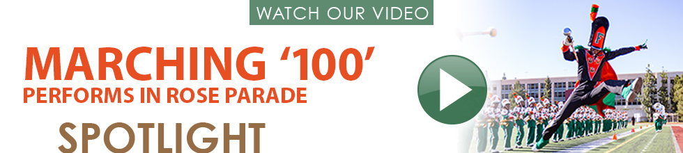 Marching 100 Rose Bowl Parade Spotlight Video